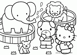 drawing kitty coloring