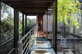 modern design homes small sustainable house with glass front yard