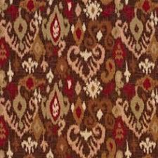 Upholstery Fabric Southwestern Pattern E715 Dark Brown Dark Red And Beige Woven Southwestern Geometric