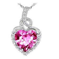 pink sapphire necklace images Pws038cps sterling silver 8mm heart cut created pink sapphire jpg