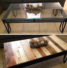 Diy Wooden Coffee Table Designs by Best 25 Glass Table Redo Ideas On Pinterest Vintage Sewing