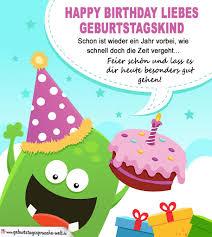 geburtstagssprüche für karten happy birthday liebes geburtstagskind bunte karte auch für