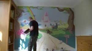 enchanted forest castle mural time lapse youtube