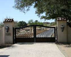exterior stunning home entrance decoration using gold metal