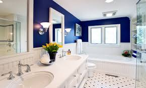 Royal Blue Bathroom Accessories Love The Royal Blue And White Contrast Master Bathroom Pinterest