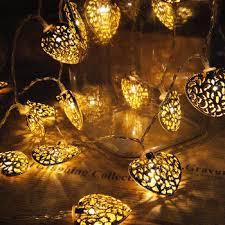 heart shaped christmas lights solar led metal heart string lights led christmas heart shaped