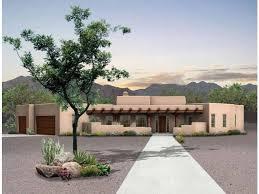 desert home plans desert retreat hwbdo02237 adobe from builderhouseplans com