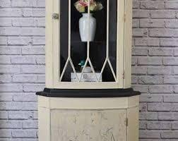 Shabby Chic Corner Cabinet by Corner Cabinet Etsy