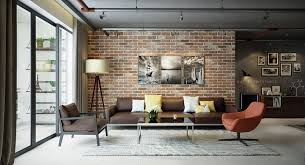 home interior accents prodigious polished use of exposed brick accent wall ideas with