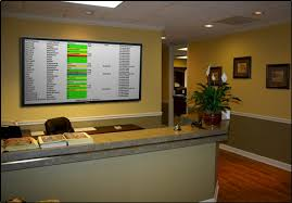 Reception Desk With Display Eioboard Electronic In Out Board Reception Desk