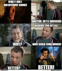 Snickers Commercial Meme - king lucifer on superwholock sherlock and supernatural