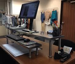 nice standing ikea desk hack a standing desk from ikea office