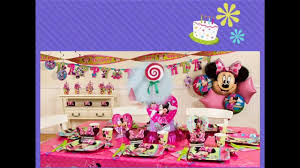 1st birthday party decorations at home at home 1st birthday party ideas for girls youtube