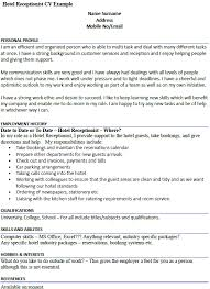 Sample Resume For Hotel Jobs by Hotel Receptionist Cv Example Icover Org Uk