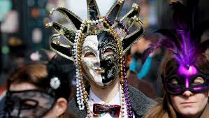 mardi gras mask new orleans in new orleans reality sets in mardi gras cbs news