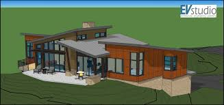 floor plan with perspective house snyder mountain road mountain modern home u2014 evstudio architect