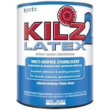 kilz 2 1 qt white water based latex interior exterior multi
