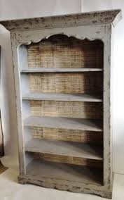 Backless Bookshelf Distressed White Bookcase Bookcase Ideas