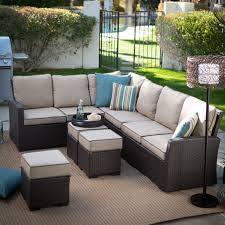 Vinyl Wicker Patio Furniture - belham living monticello all weather wicker fire pit chat set with