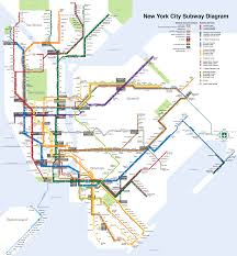 Subway Nyc Map Nyc Subway Map Subwaystats