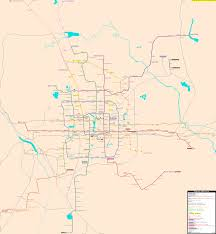 Beijing World Map by Beijing Real Distance Metro Map