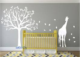White Tree Wall Decal For Nursery Nursery Wall Decals Tree Wall Stencil White Tree Wall Decals