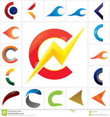 letter c company logo template set stock vector image 51941429