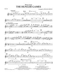 hunger games theme song download music from the hunger games flute sheet music by james