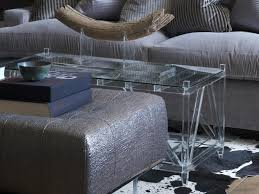 clear acrylic coffee table modern small acrylic coffee table