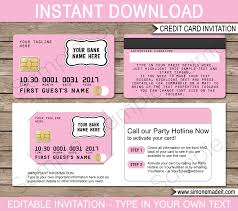 Invitation Card For 1st Birthday Wonderful Credit Card Party Invitations 50 For Your Invitation
