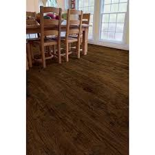 Hickory Laminate Flooring Trafficmaster Hand Scraped Saratoga Hickory 7 Mm Thick X 7 2 3 In