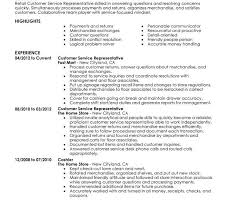 Resume Example Retail by Intricate Retail Resume Examples 1 Unforgettable Customer Service