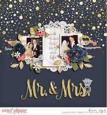 wedding scrapbook digital scrapbook layout using eternal blush by big designs