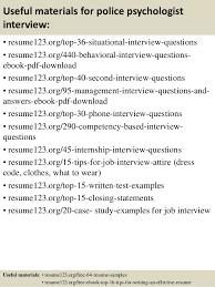 top 8 police psychologist resume samples
