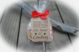 cowboy baby shower favors diy bags favor tags w ribbon