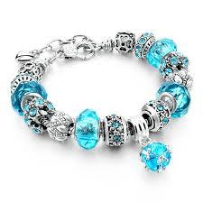 gemstone charm bracelet images Aquamarine crystal gemstone charm bracelet geniemania jpg