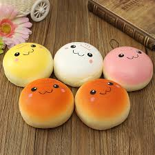 cuisine kawaii 10cm smiling expression kawaii squishy bread keychain bag phone