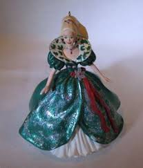 hallmark vintage holiday barbie christmas ornament 1994 gold gown