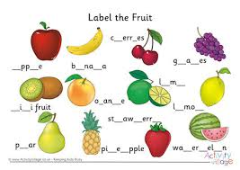 labelling worksheets