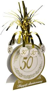 50th anniversary centerpieces 50th anniversary centerpiece party accessory 1 count