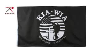 Poly Flag Killed Wounded In Action Kia Wia Black All Gave Some Gave Poly