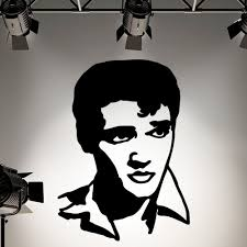 popular elvis wall mural buy cheap elvis wall mural lots from free shipping elvis presley silhouette vinyl wall art sticker decal home decoration wall mural removable room