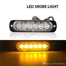 led strobe lights for motorcycles 4 3inch 12w led strobe light super slim forklift safety warning