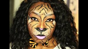 easy face makeup for halloween halloween makeup easy tiger makeup jumieanne youtube