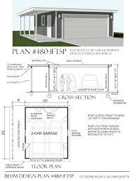 garage plans with porch flat roof garage plans 480 1ftsp 26 w x 24 d by behmbehm garage plans
