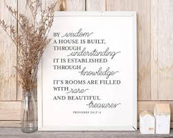 wedding proverbs proverbs 24 3 etsy