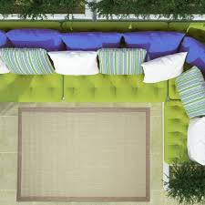 Easy To Clean Outdoor Rug Green Geometric Border Flatweave Area Rugs Durable Easy Clean