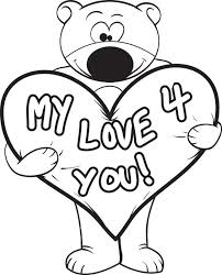 free printable valentine u0027s day teddy bear coloring page for kids 3