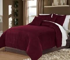 Betty Boop Duvet Set Hotel Collection Bedding 100 Cotton Velvet Burgundy Full Queen