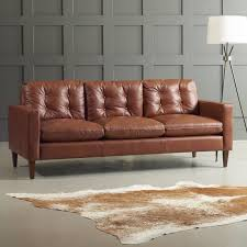 leather sofa dwellstudio leather sofa reviews dwellstudio